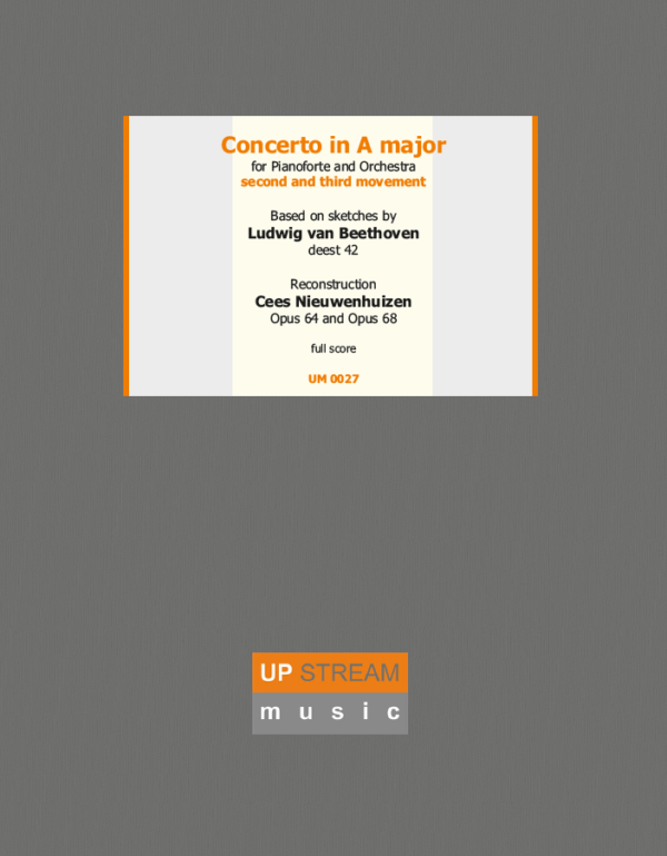 Concerto in A major Deest 42 Hardcover